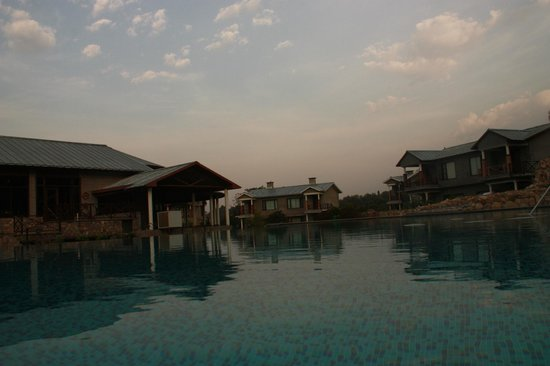 Aahana the Corbett Wilderness: View from inside the pool