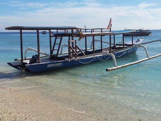 Bale Sampan Bungalows: Local dive boat
