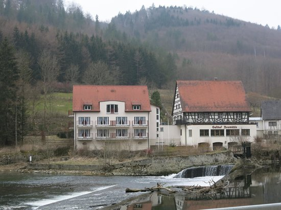 Hotel Gasthof Neumühle: photo from road