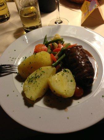 Hofgut Himmelreich: 夕食で食べました。ボリュームたっぷり。