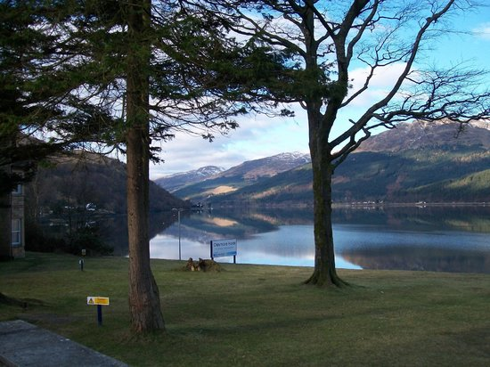 Arrochar, UK: view across the garden