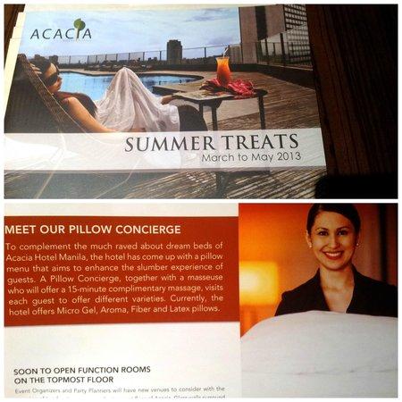 Acacia Hotel Manila: The non-existent pillow concierge