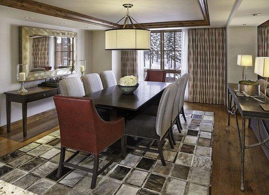 The St. Regis Aspen Resort: Dining Room, Residence Club [Furnishing may vary]