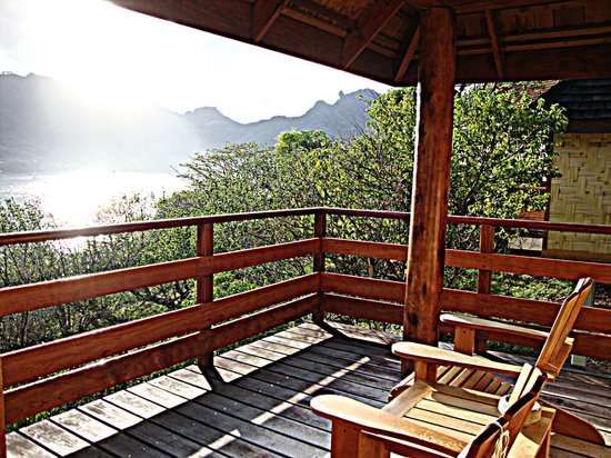 Keikahanui Nuku Hiva Pearl Lodge : La terrasse