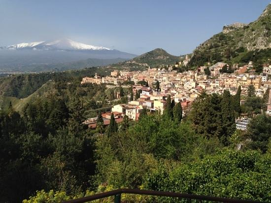 Taormina city with mt Etna - Picture of B&B La Terrazza sul Mare ...