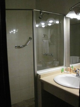 Toscana Inn Hotel: Shower in Bathroom