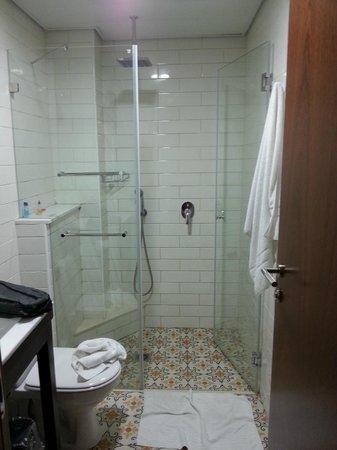 The Embassy Hotel Tel Aviv: the shower