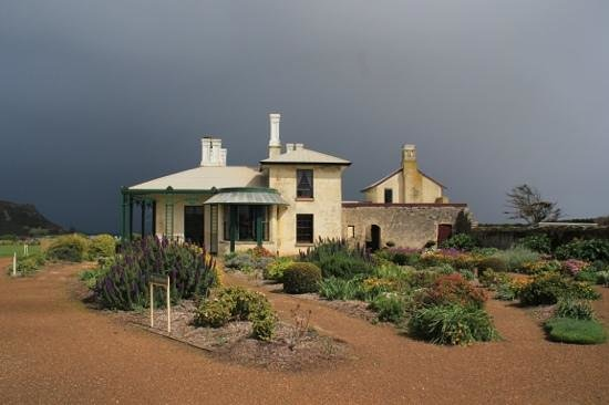 Highfield Historic Site: Highfield House with storm coming