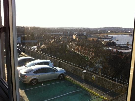 St. George Hotel: view of car park from window