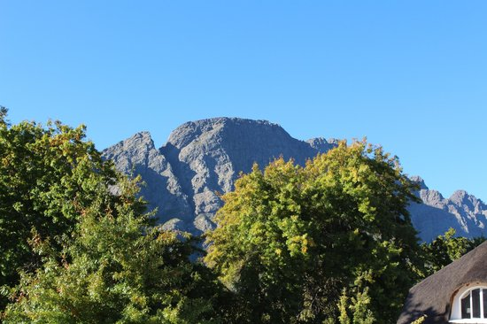 Le Franschhoek Hotel & Spa: View from the room