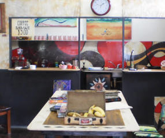 La Musette Cycling Cafe & Gallery: Free bananas