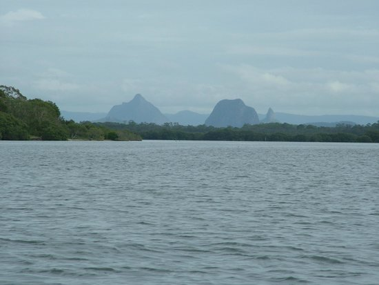 Views of Glasshouse Mountains from Caloundra Jet Ski safari