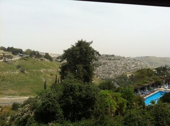 Mount Zion Hotel: view from our room