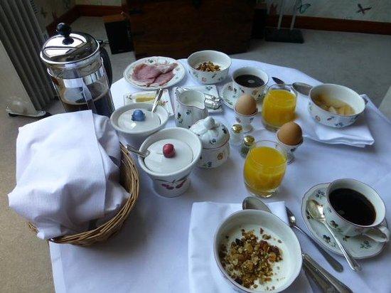 The Peat Inn: Room service breakfast.