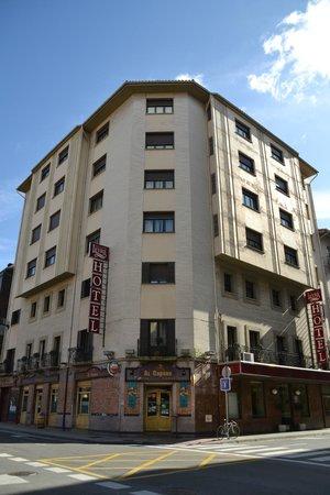 Sercotel Leyre: Fachada hotel