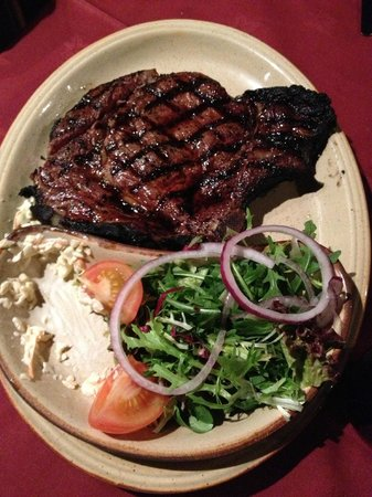Chop & Ale House: Rib Eye Steak Main Meal with side salad & coleslaw
