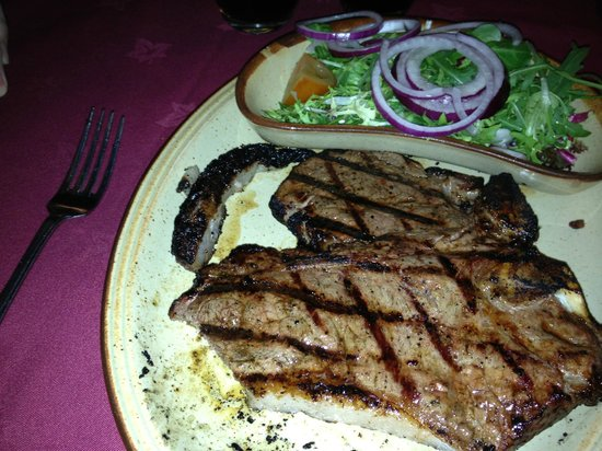 Chop & Ale House: T-Bone Steak Main Meal with side salad