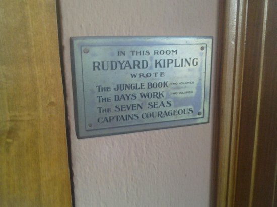 Naulakha: Plaque in Kipling's Study