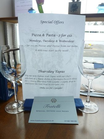Fratelli: Special Offers