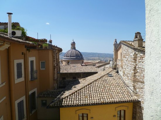 Hotel Pallotta Assisi: View from our room's window