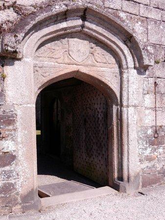 Cotehele: Edgcumbe Arms over the doorway