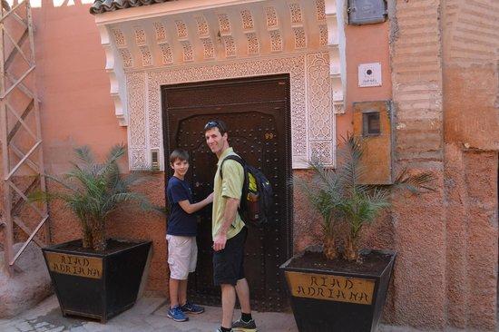 Riad Adriana: Front door or Riad