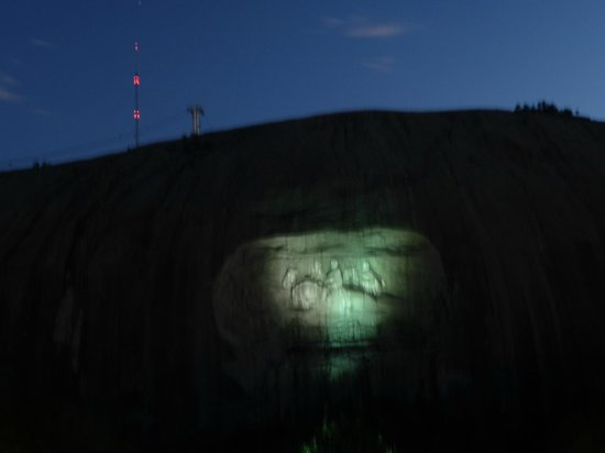 Stone Mountain Park: It's dark enough, the show is ready to start!