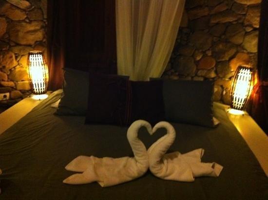 Finca de Arrieta : bed in Eco tower