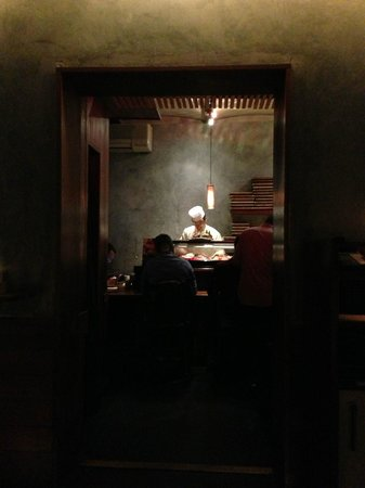 Blue Ribbon Sushi: Sushi Bar As Seen From Wait Area