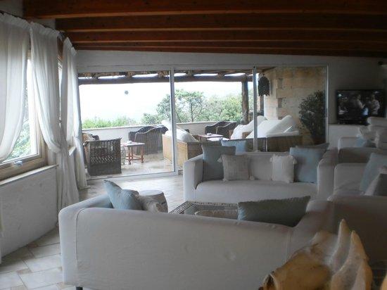 Balocco Hotel : Il living e il patio