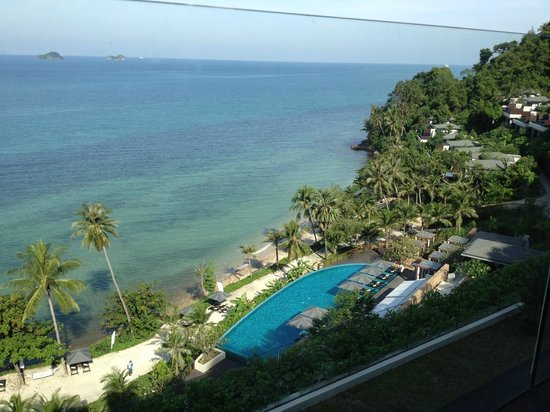 Conrad Koh Samui: view from coffee shop