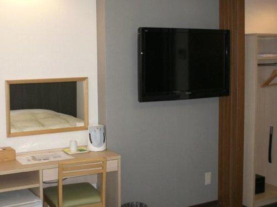 Nikko station hotel classic: 日光ステーションホテルクラシックの名物壁掛けTV