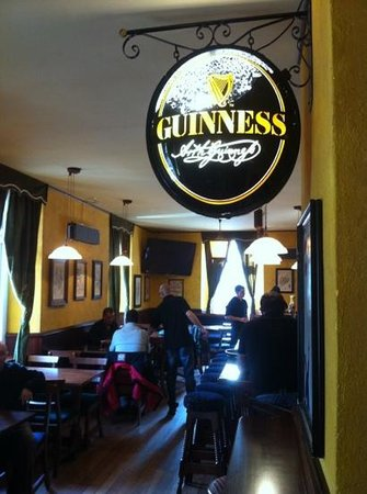The Trinity Irish Pub: Guinness sign