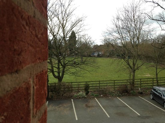 Castle Hotel: Looking at the field from room 58.