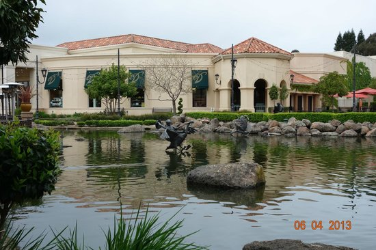 Blackhawk Plaza: Beautiful Pond behind the  restaurants and the shops