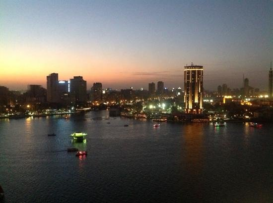 Grand Nile Tower: view from a hotel room