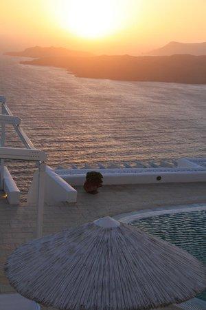 Lilium Villas Santorini: vista desde terraza