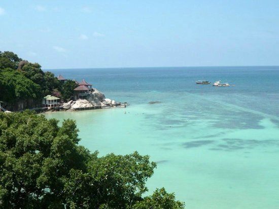 Taa Toh Lagoon Diving Resort : Vue depuis notre bungalow