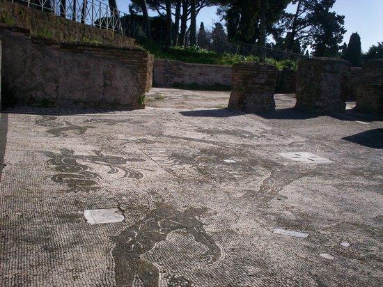 Ostia Antica: uno de los tantos mosaicos