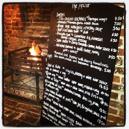 The Anchor Inn: menu a la carte