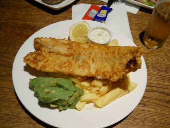 Fish and chips picture of the anchor london tripadvisor for Anchor fish and chips