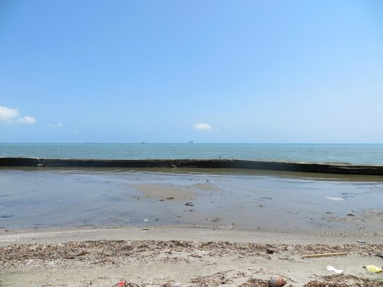 """Reggie's Tours: There are no """"beach"""" areas here-travel by ferry to islands off Belizian coast"""