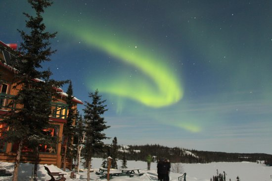 Blachford Lake Lodge: Aurora at 2:30am, March 24, 2013. (Original no PS)