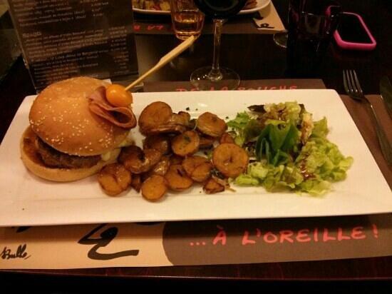 De La Bouche A l'Oreille : bougnat burger
