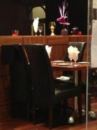 Saffron: beautiful expensive tables