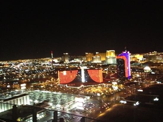 The Palms Casino Hotel: great view from Moon Nightclub