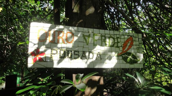 Pousada Ouro Verde: Welcome sign