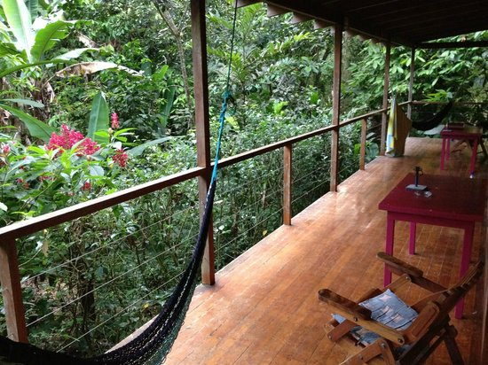 El Tucan Jungle Lodge: Morgens um 6 auf der Veranda vor unserem Zimmer...