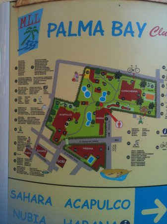 resort map Picture of Palma Bay Club Resort Playa de Palma