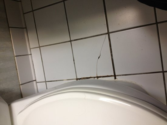 Quality Inn & Suites: Cracked tile